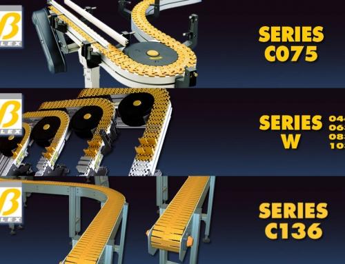 Transportadores modulares flexibles en aluminio